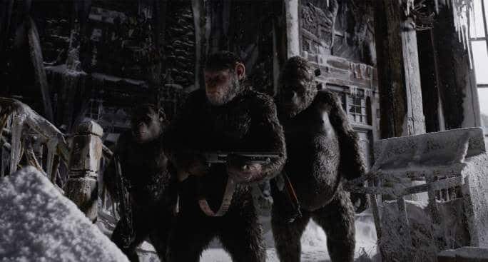 """""""Planet of the Apes"""" firades med hjälp av beväpnade apor"""