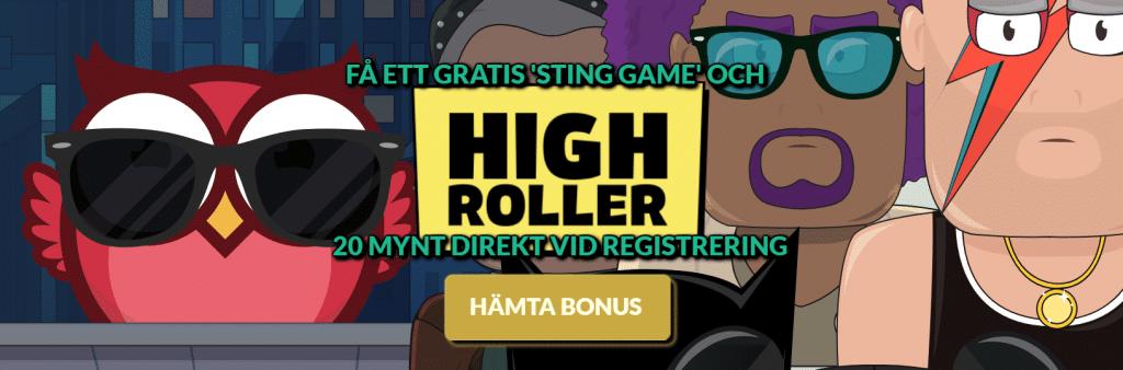 Highroller bonus banner