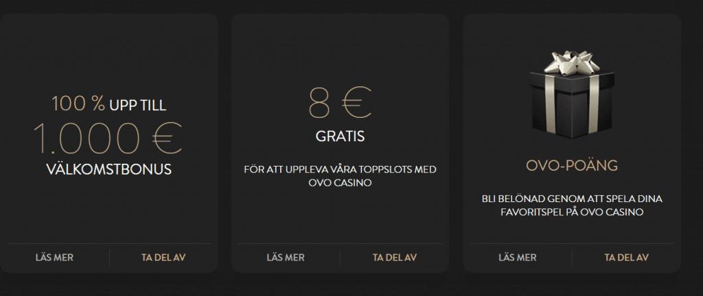 Nu får du 8€ utan kostnad – har du provat Ovo Casino?