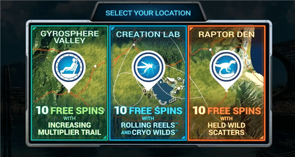 Free Spins jurassic world