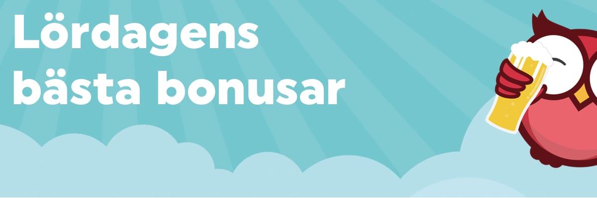 Dagens bonusar: Lördagen den 8 september 2018