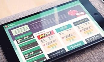 Casinokompassen på en iPad
