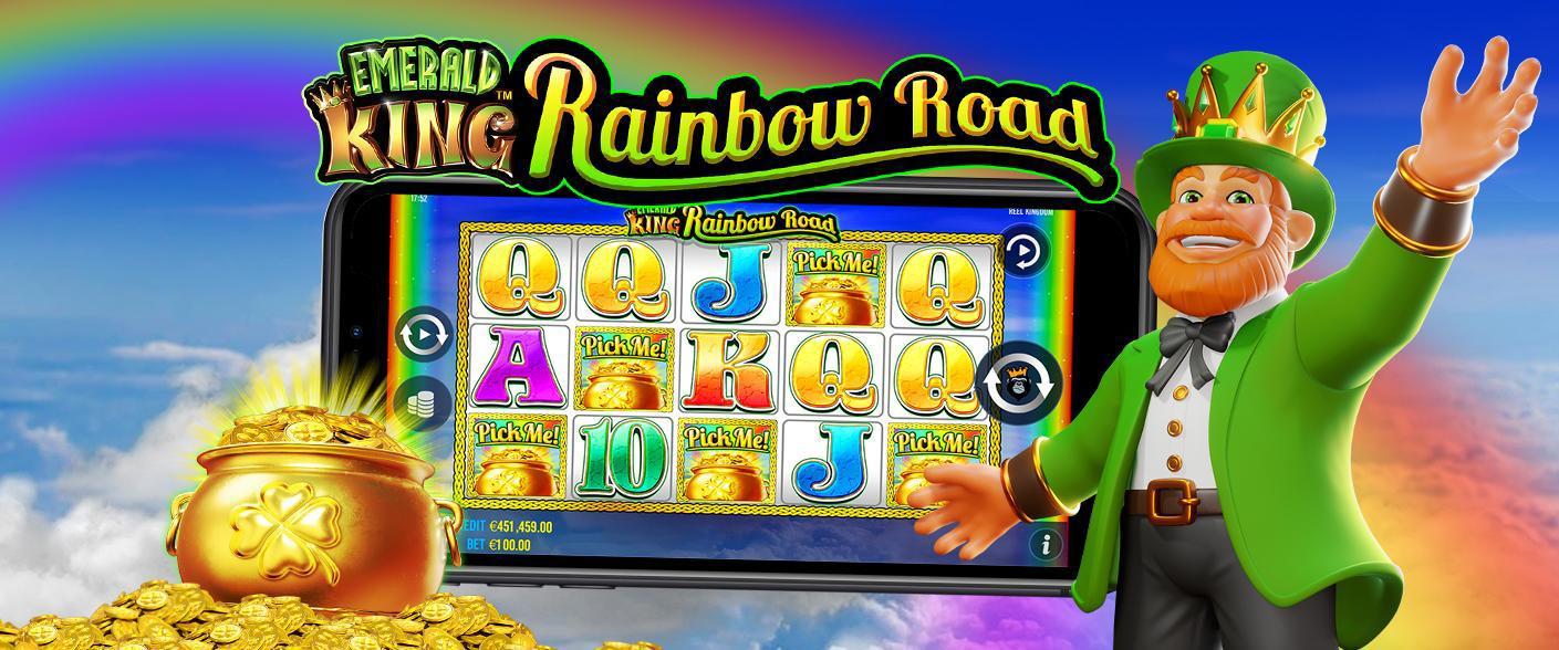 Slotsnytt: gå på regnbågsvägar i nya Emerald King