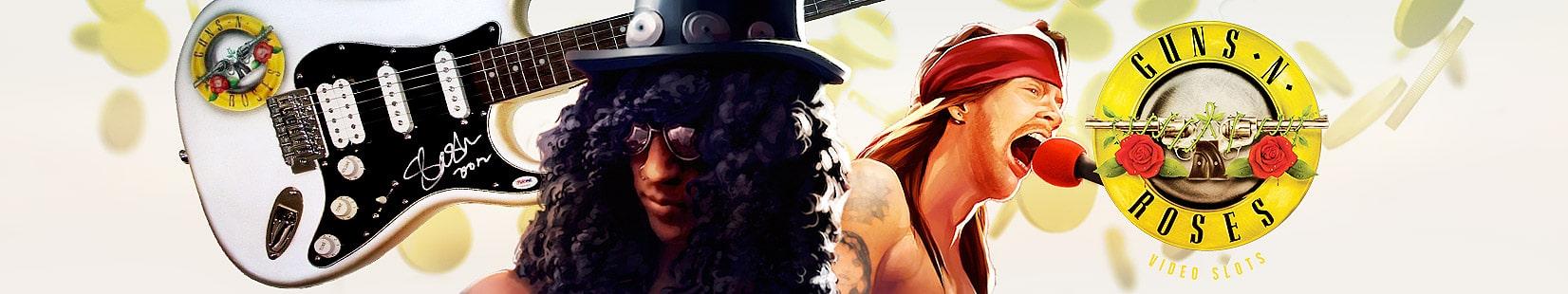 Vinn en signerad gitarr av Slash när Guns N' Roses-sloten lanseras