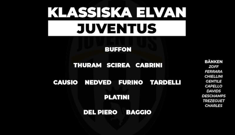 Så här ser Juventus klassiska startelva ut