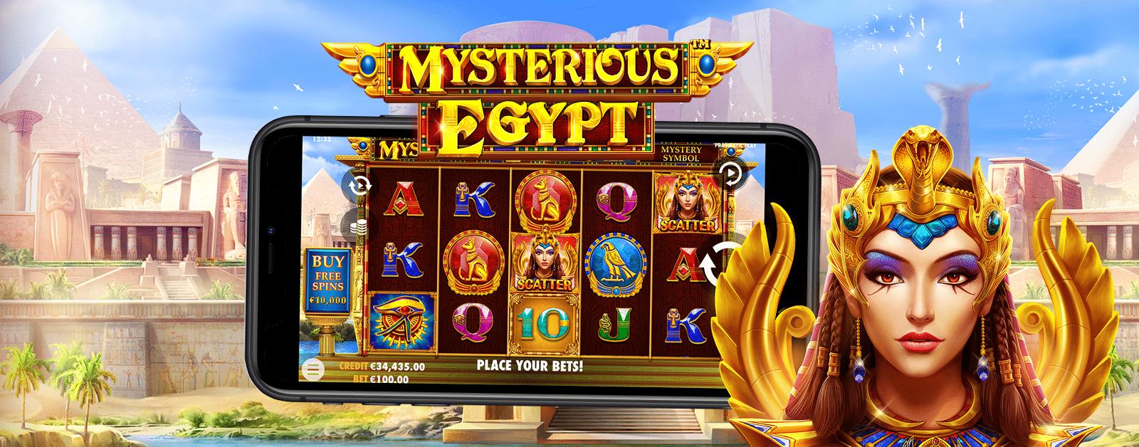 Slotsnytt: besök antika Egypten i Mysterious Egypt