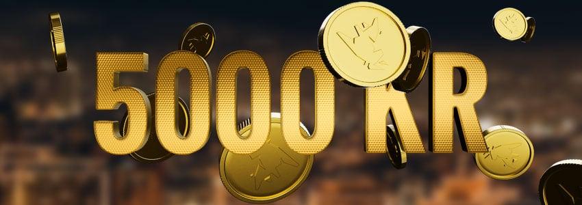 Få en välkomstbonus på 5000 kr