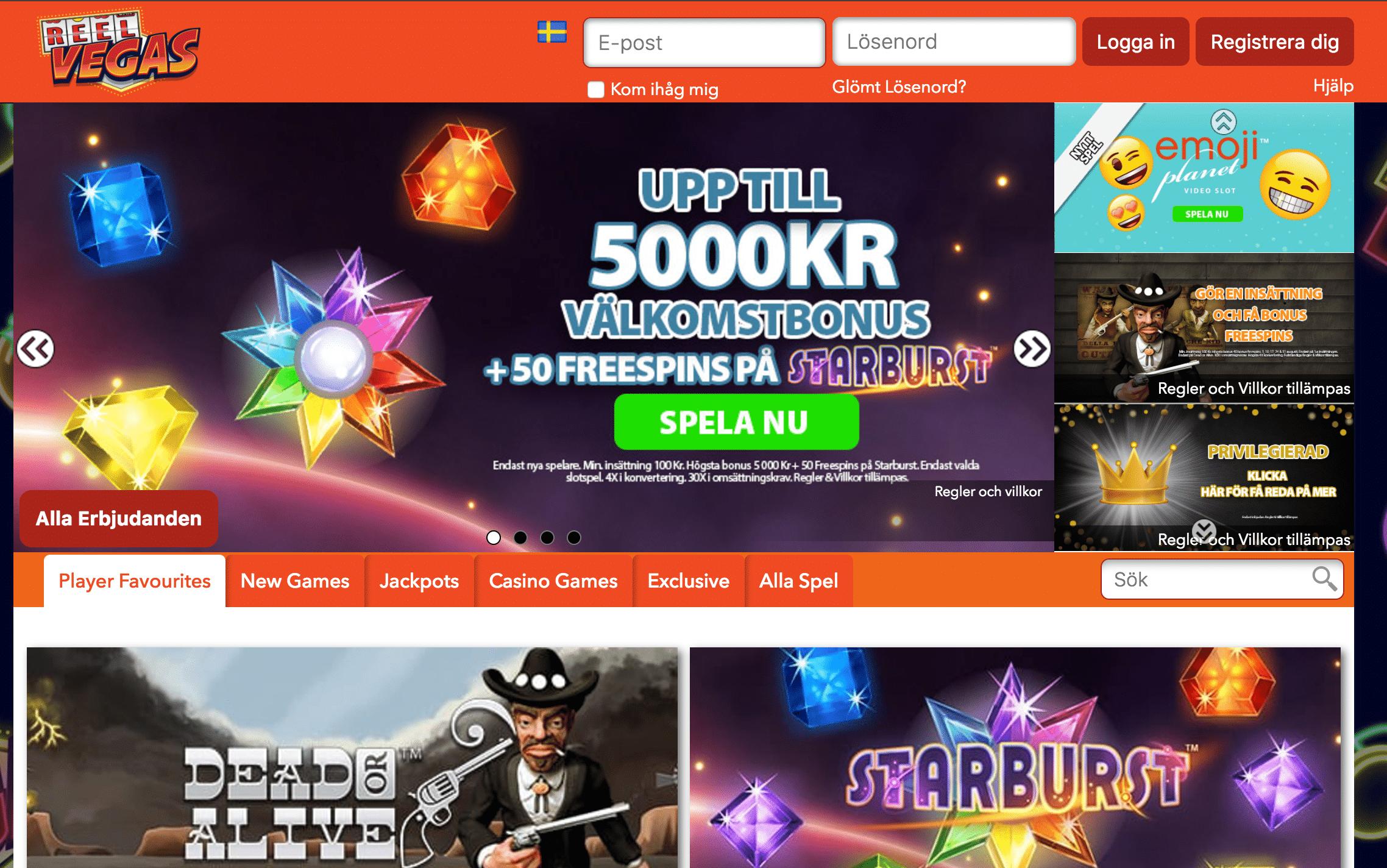 Det färska Vegas-inspirerande casinot bjuder på 5000 kr + 50 free spins
