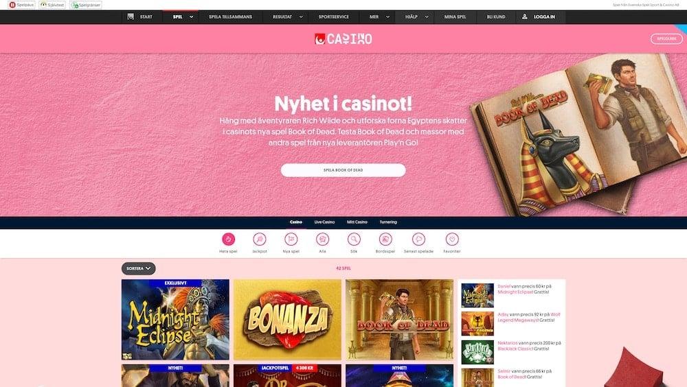Årets casinospel framröstade i Guldspinn 2020