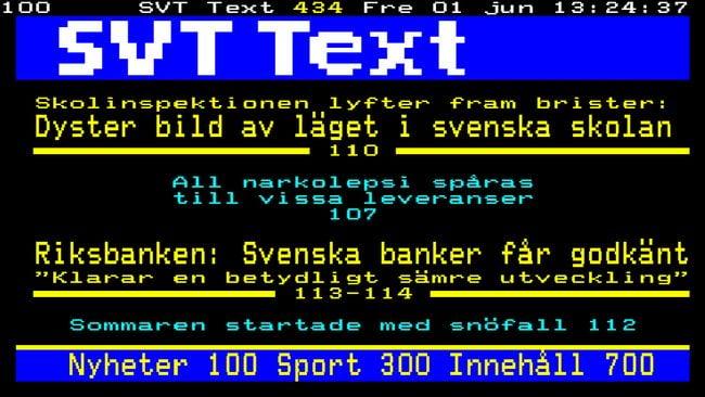 SVT tar bort stryktips och V75 från text-tv